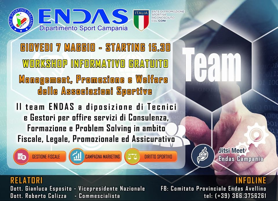Workshop informativo Endas Avellino