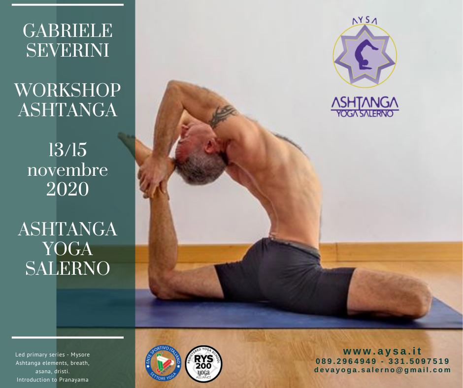Workshop Ashtanga 13/15 novembre