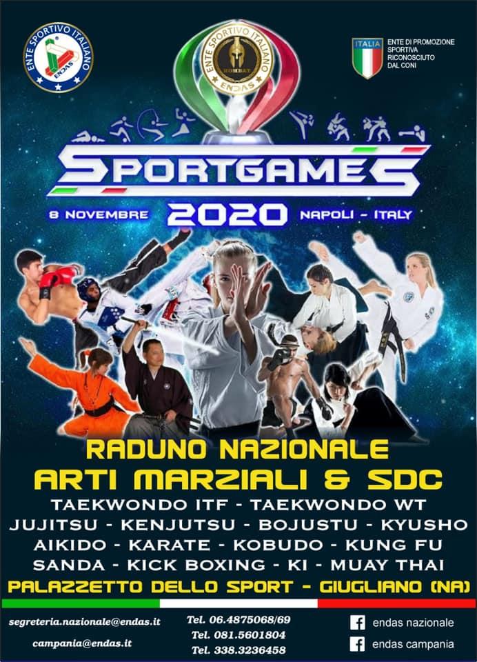 Sportgames 2020: raduno Nazionale di arti marziali & sdc