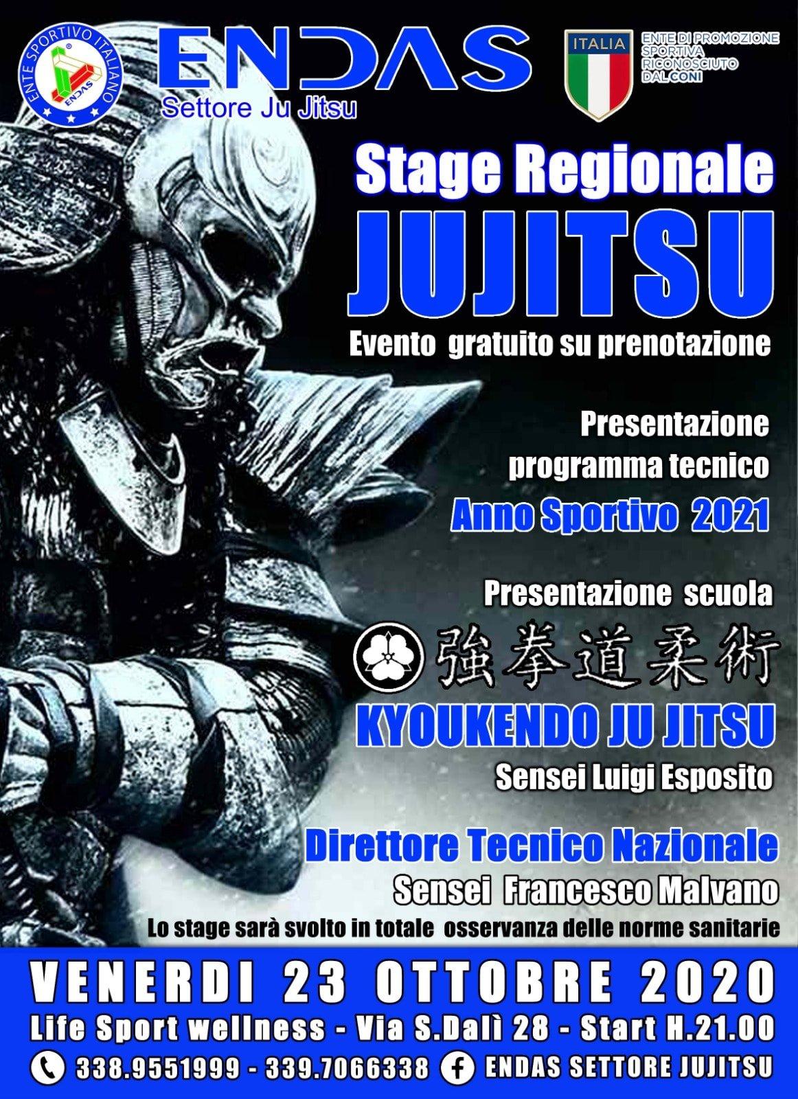 Stage Regionale Jujitsu ENDAS 23 Ottobre